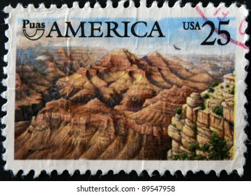 UNITED STATES OF AMERICA - CIRCA 1989: A stamp printed in USA showing Grand Canyon, circa 1989