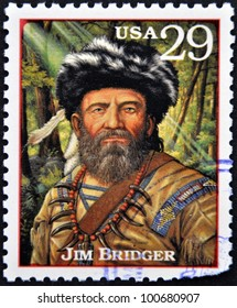 UNITED STATES OF AMERICA - CIRCA 1994: A stamp printed in USA with James Jim Bridger, circa 1994