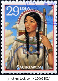 UNITED STATES OF AMERICA - CIRCA 1994 : A Stamp printed in USA show Sacagawea, circa 1994
