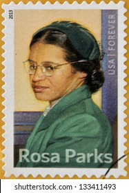 UNITED STATES OF AMERICA - CIRCA 2013: a stamp printed in USA showing Rosa Parks, circa 2013.