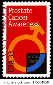 UNITED STATES OF AMERICA - CIRCA 2014: stamp printed in USA shows Prostate Cancer Awareness, USA 33c,  circa 2014
