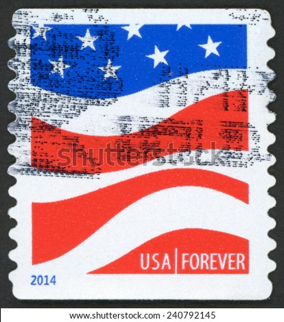 United States America Circa 2014 Forever Stock Photo Edit Now - United-states-forever-stamps