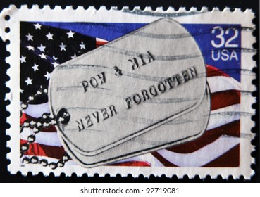 UNITED STATES OF AMERICA - CIRCA 995: A stamp printed in USA dedicated to honor POWs and MIAs, circa 1995