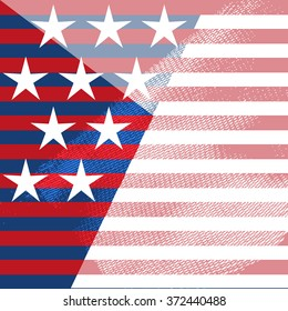 United States of America decoration - raster Background. Fourth of July, Independence Day, Washington's Birthday (Presidents Day). Presidents day textured background with USA stars and stripes