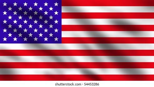 United States of America flag, 3d illustration