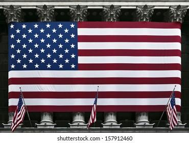 United States of America flag close up