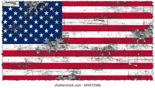 United States Of America flag grunge background. Background for design in country flag