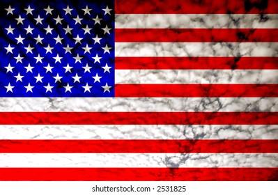 united states of america flag illustration, computer generated