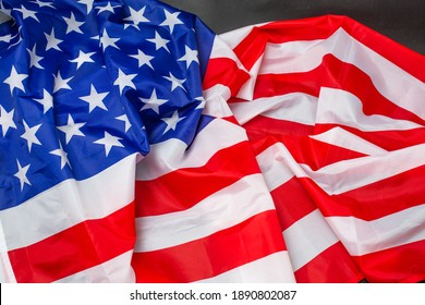United States of America flag. Image of the american flag flying