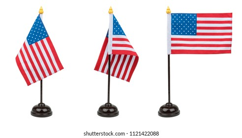 United States of America flag, isolated on white background with clipping path