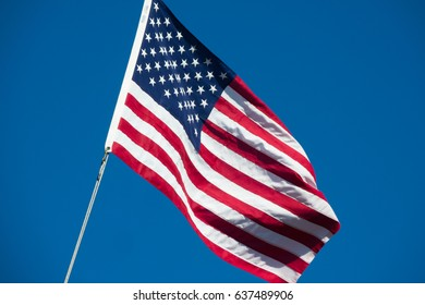 United States of America flag star spangled banner stars and stripes blue sky