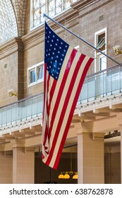 United States of America flag star spangled banner stars and stripes Ellis Island Immigrant Building