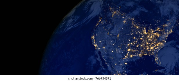 Usa Map Night Images Stock Photos Vectors Shutterstock - Us-map-night