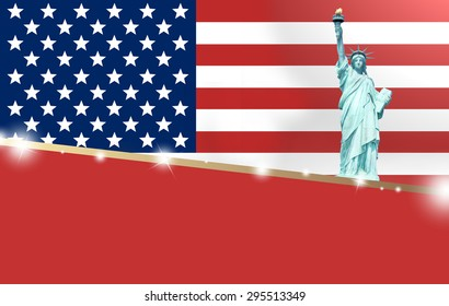 United States of America Red Style Design