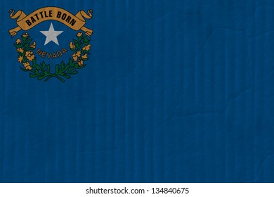 United States of America State Nevada cardboard flag