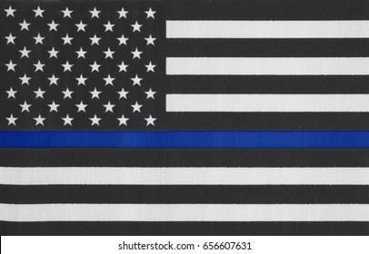 United States of America thin blue line flag
