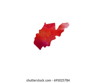 United States Of America. Watercolor texture. West Virginia