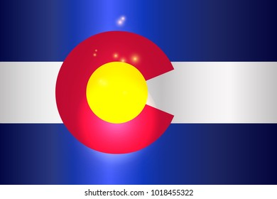 The United States of American state flat of colorado