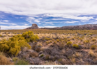 United States. Arizona. Coconino County. Sandstone cliffs and sagebrush along the U.S. Highway 89 between Page and Kaibito, through the Navajo Nation.