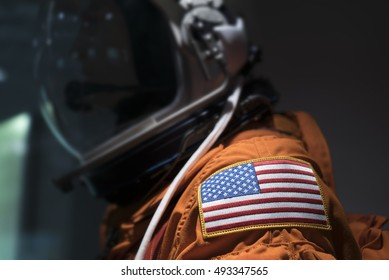 United States Astronaut suit with flag on shoulder