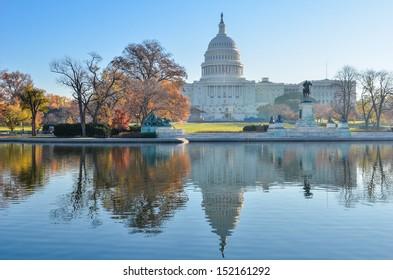 United States Capitol Building in Autumn