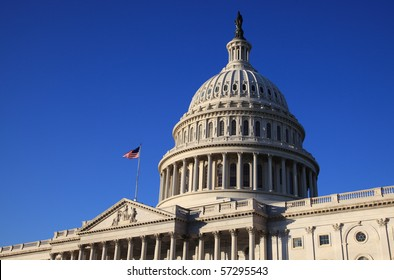 The United States Capitol building and dome, Washington, DC.