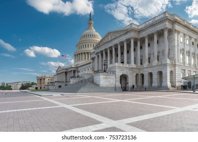 United States Capitol Building east facade at sunny day, Washington DC, United States.