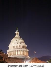 United States Capitol Building Long Exposure