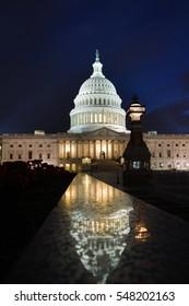 United States Capitol Building at night - Washington DC USA