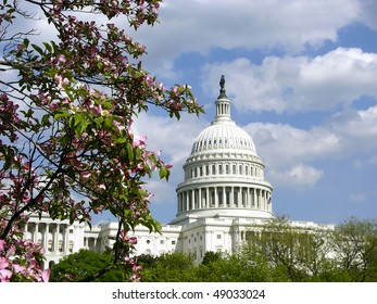 United States Capitol building in Spring