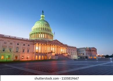 United States Capitol Building at sunset,Washington, DC, USA