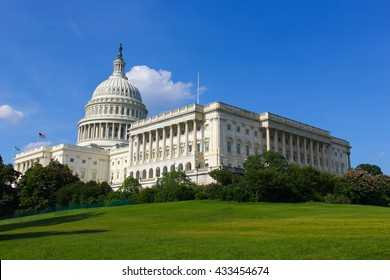 United States Capitol Building in Washington DC. US government monument in capital. National politics power, legislation concept