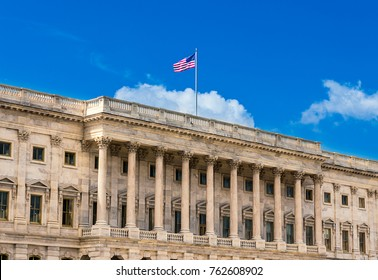 United States Capitol Building in Washington DC - North Facade of the famous government building on capitol hill.