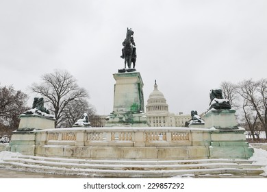 United States Capitol Building in Winter - Washington DC, United States of America