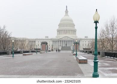 United States Capitol Building in Winter - Washington DC, United States