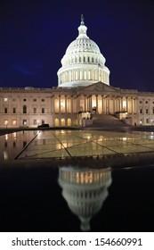 United States Capitol at dusk, Washington DC