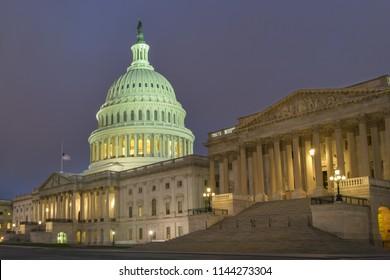 United States Capitol at night - Washington DC United States of America