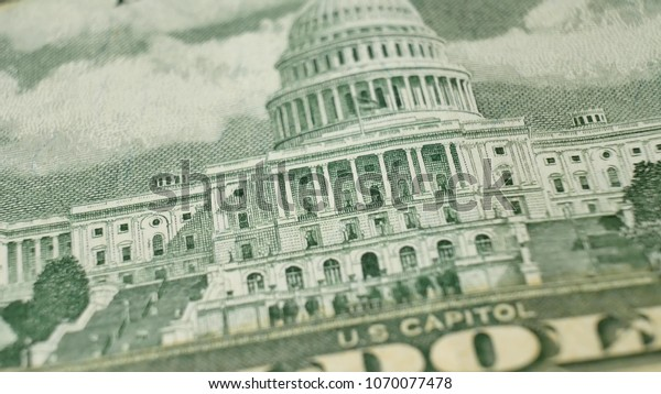 United States Capitol on 50 Dollars bill USA money banknote