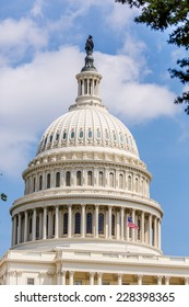 United States Capitol, one of the most recognizable historic buildings in Washington, DC located on Capitol Hill at the National Mall.