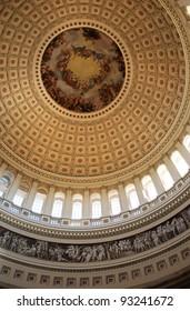 United States Capitol Rotunda / United States Capitol rotunda painting, Washington DC, USA