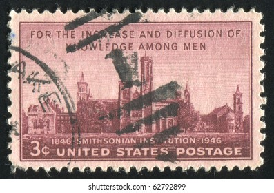 UNITED STATES - CIRCA 1946: stamp printed by United states, shows Smithsonian Institution, circa 1946