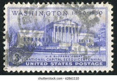 UNITED STATES - CIRCA 1950: stamp printed by United states, shows Supreme Court Building, circa 1950