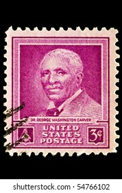 UNITED STATES - CIRCA 1950's : A stamp printed in United States.Doctor George Washington Carver. United States - CIRCA 1950's