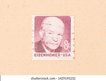 UNITED STATES - CIRCA 1960: A stamp printed in the USA shows a president (Eisenhower), circa 1960