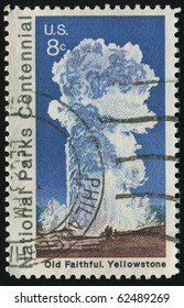 UNITED STATES - CIRCA 1972: stamp printed by United states, shows Old Faithful Yellowstone, circa 1972.