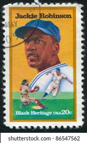 UNITED STATES - CIRCA 1982: stamp printed by United states, shows Jackie Robinson, circa 1982