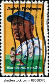 UNITED STATES - CIRCA 1982: A stamp printed in United States shows Jackie Robinson, circa 1982