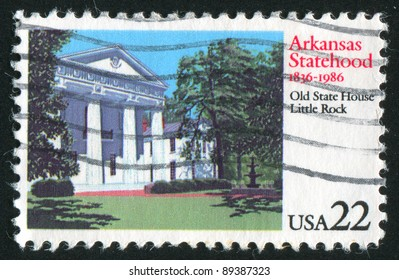 UNITED STATES -CIRCA 1986: stamp printed by United States of America, shows Old State building, Little Rock, circa 1986