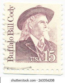 UNITED STATES - CIRCA 1988: A stamp printed in the United States, shows Buffalo Bill Cody (1846-1917), circa 1988