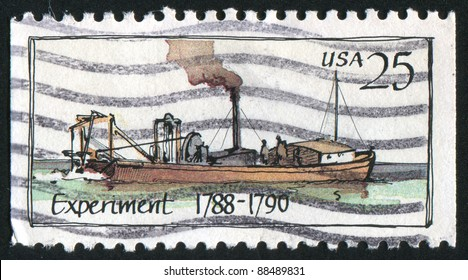 UNITED STATES - CIRCA 1989: stamp printed by United states, shows Steamboat, circa 1989